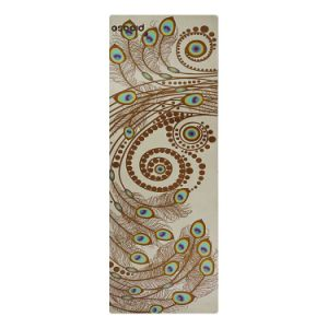 Natural Tree Rubber Yoga Mat Non-Slip Suede Yoga Mat with Custom Printing