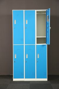 Manufacture Good Quality 6 Doors Steel Locker for Office Furniture