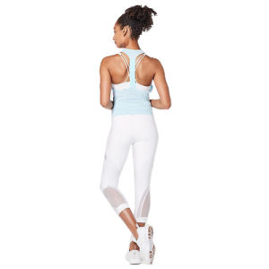 "Girl 2019 New Fashion Mesh 7"" Summer Yoga Legging Pant"