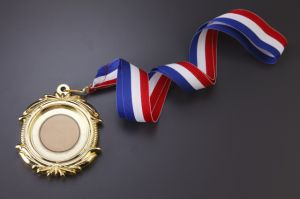 Customized Newest Souvenir 3D Blank Metal Medallions with Ribbon pictures & photos