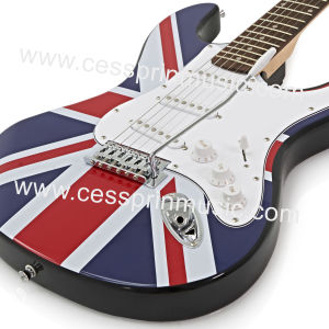 Wholesales /Stickers Electric Guitar/ Lp Guitar /Guitar Supplier/ Manufacturer/Cessprin Music (ST604) / The National Flag Guitar pictures & photos