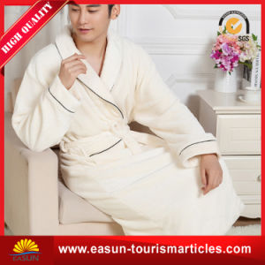 Custom Kimono Style Hotel Men′s Solid-Colored Waffle Bathrobe pictures & photos