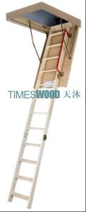 Grand Wooden Folding Loft Ladder pictures & photos