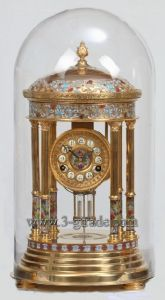 Cloisonne Giled Antique Clock (JG035A)