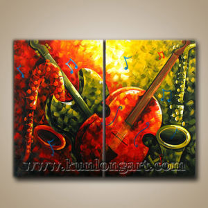 Modern Art Abstract Music Painting On Canvas Klmp2 0001