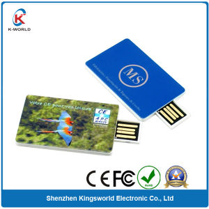 Plastic Card USB Flash Disk with Printing (KW-0192)