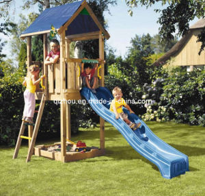 Outdoor Wooden Jungle Gym (QZF1011)