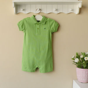 2013 Mom and Bab Summer Baby Boy′s Short Sleeves Bodysuit, 100%Cotton Baby Romper with SGS Certification