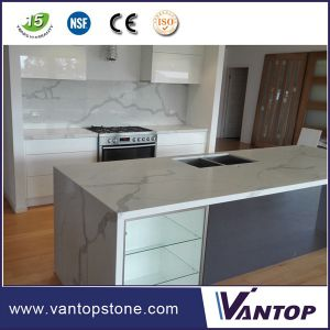 China Vantop Quartz Countertops That Look Like Calacatta Gold Marble