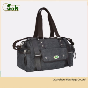 f64223a3ffc7 China Wholesale Vintage Small Canvas Travel Duffle Bag with Custom ...
