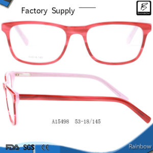 2e3098345c China Two Tone Color Manufacture Red Frame Eyeglasses for Girls ...
