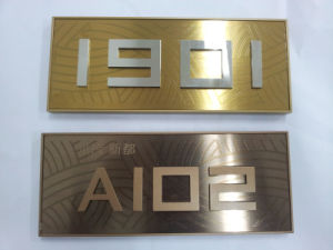 Hotel or Office Stainless Steel Doorplate pictures & photos