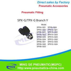 Y Type Three Way Pneumatic Pipe Fitting for Fast Connector (SPX-G)