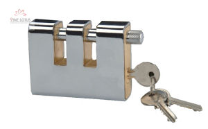 High Quality Armored Rectangular Steel Shell Brass Padlock pictures & photos