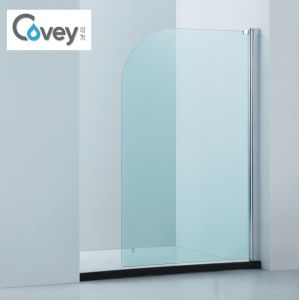 6mm Tempered Glass Bathtub Screen with Certifications (A-CVP009)