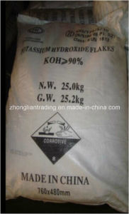 KOH Flakes (potassium hydroxide flakes) 90% Min for Africa pictures & photos