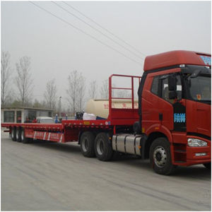 China Heavy Loading Flat Bed Trailer Dimensions