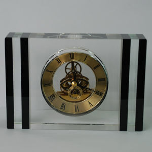 Black Classic Cabinet Decor Crystal Desk Big Watch Accept Logo pictures & photos