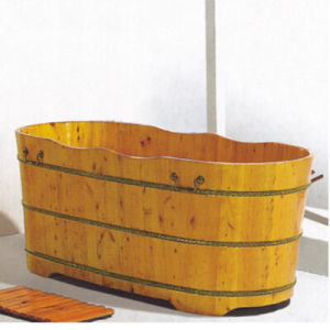Wooden Bathroom Sanitary Ware Soaking SPA Bathtub Hot Tub (NJ-017) pictures & photos