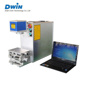 20W 30W Portable Fiber Laser Metal Marking Engraving Machine Price pictures & photos