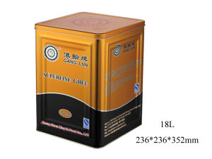 Large Capacity Metal Oil Can with Cover