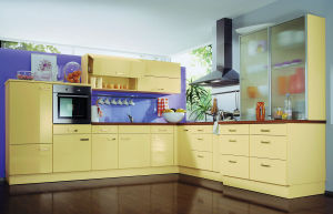 Home Furniture High Gloss Kitchen Cabinet Design Design for Sale