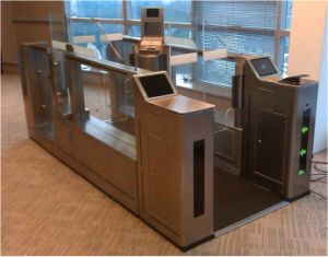 Customs Control Security Airport Gate with Iris Recognition pictures & photos