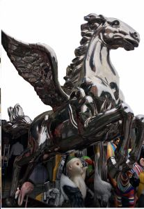 Flying Horse, Large Outdoor Sculpture Making and Interior Decoration Metal Decoration, Handicraft Art, Can Be Customized to Make Sculpture