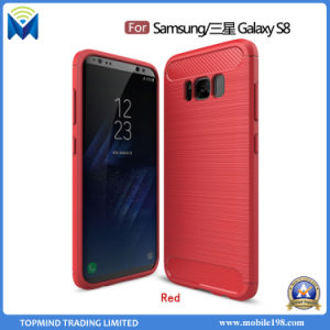 Factory Rugged Armor Silicone Gel Carbon Fiber TPU Back Case for Samsung Galaxy S8 S8 Plus