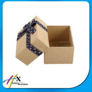 Handmade Luxury Ribbon Custom Kraft Paper Gift Chocolate Packaging Box pictures & photos