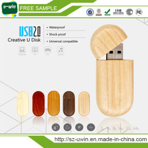 Natural Wooden USB Flash Drive Custom Logo Pendrive