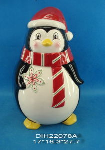 Hand-Painted Ceramic Penguin Storage Jar pictures & photos