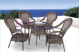 European Style Decorative Pattern Outdoor PE Rattan Furniture