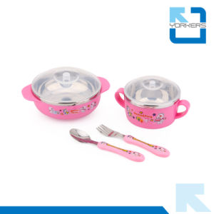 Hot Sell 304 Stainless Steel Children Dinner Set and Bowl Sets with Bowl/Cup/Spoon/Fork Wholesale pictures & photos