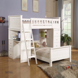 Loft Bunk Bed with Storage and Desk Children Furniture 2017 New Design China Factory Design 3076A