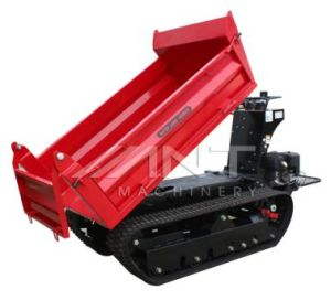 By1000m Trucked Skid Steer Dumper Power Barrow with Electric Starting