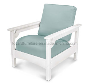 Modern Garden Hotel Lobby Deep Seating Wooden Chair with Wateproof Quick Dry Foam Cushions