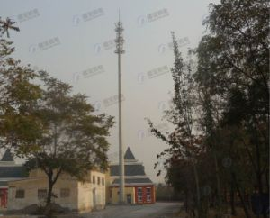 Galvanized Self-Supporting Monopole Communication Tower