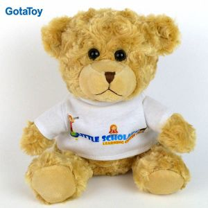 Factory Custom Cheap Standing Plush Teddy Bear with T-Shirts