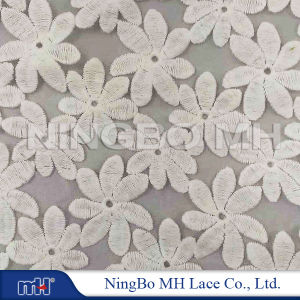 China Manufacturer of Cotton Organza Lace Fabric on Sale
