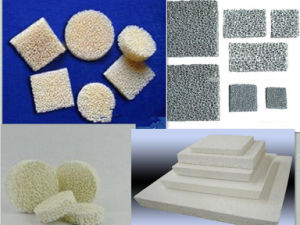 Top Quality Good Strength Sic/Al2O3/Zirconia Ceramic Foam Filter pictures & photos