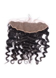 Virgin Human Hair 13X4 Loose Wave Lace Frontal with Natural Hairline