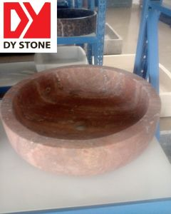 Red Marble Stone Sink (DYSINK507)