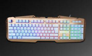 Hacker Assassins-Ak8000 Gaming Backlit Breathing 7 Colorssurface Steel  Plate Keyboard