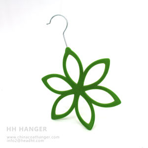 Hot Sale Flocked Scarves Hangers, New Fashion Velvet Tie Hanger pictures & photos