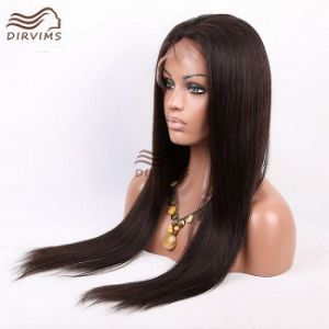 100% Brazilian Virgin Hair Lace Front Wig / Full Lace Wig Straight Hair Hand Made Wigs