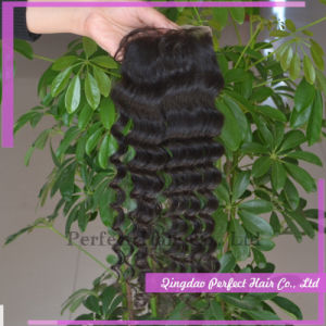Virgin Hair Cheap Burgundy Lace Closure pictures & photos