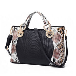 2016 Trendy Snake Skin PU Leather Women Tote Bags