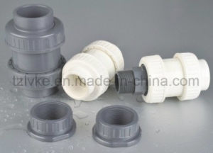 PVC Double Union Check Valve for Pool Swimming with ISO9001 (ANSI, DIN, JIS, CNS) pictures & photos