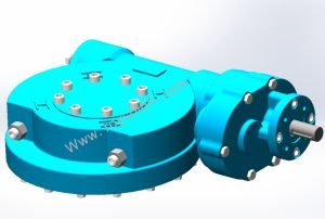 Rwsg7 Electric Operated Part Turn Worm Gearbox pictures & photos